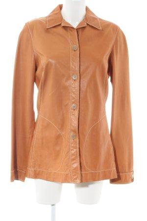 Samsonite Leren shirt licht Oranje zakelijke stijl