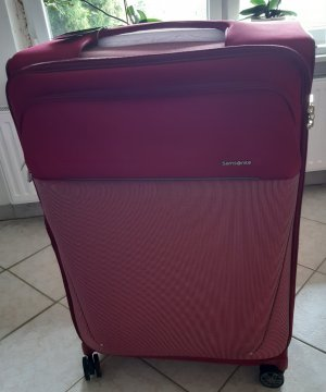 Samsonite Valise Trolley rouge framboise