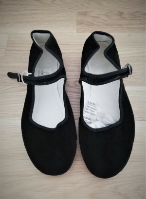 keine Mary Jane Ballerinas black