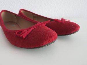 Samt Ballerinas Rot