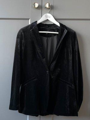 Samt-Blazer schwarz von Comma Größe 38