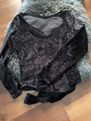 Shirt Body black-silver-colored