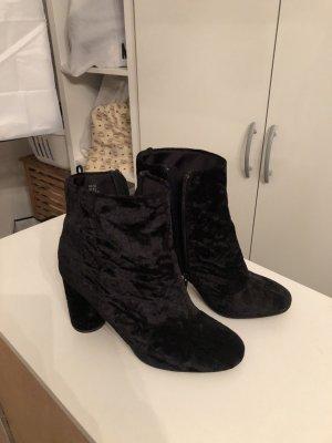 Samt Boots Stiefelette