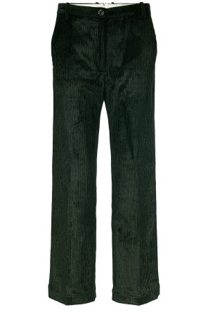 Nine in the morning Corduroy Trousers dark green cotton