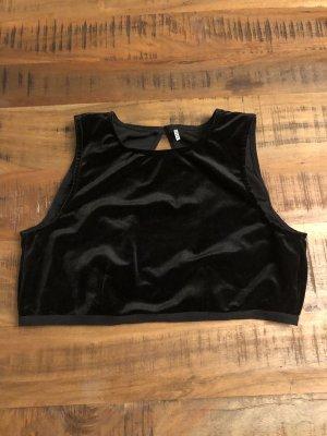 Pieces Cropped top zwart
