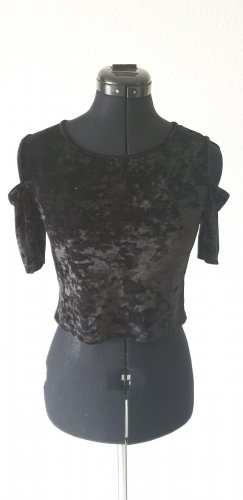 Samt Cropped Top