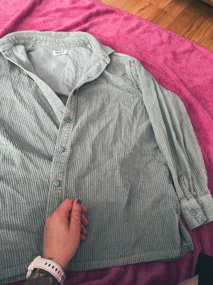 Pull & Bear Chemise à manches longues vert clair coton