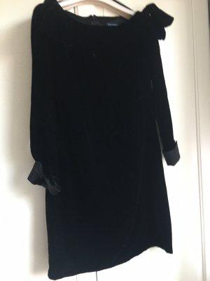 Samt Kleid A Linie Langärmel