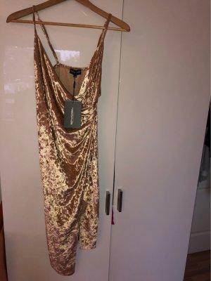 PrettyLittleThing Tube Dress rose-gold-coloured-dusky pink