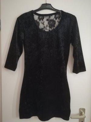 Samt Kleid mit Spitze