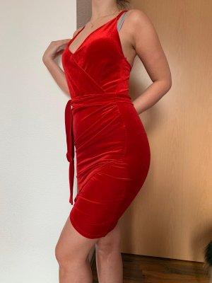 Bohoo Evening Dress red