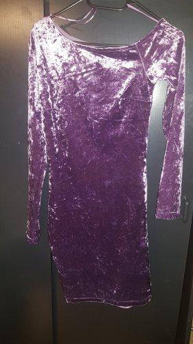 Amisu Robe mi-longue violet velours