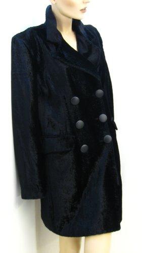 Cappotto in eco pelliccia nero-antracite Viscosa