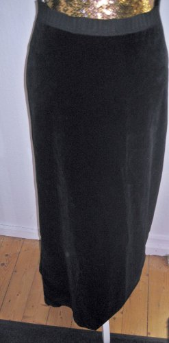 Samt Maxirock schwarz Gr 36