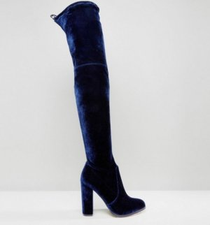 Asos Botas sobre la rodilla azul oscuro