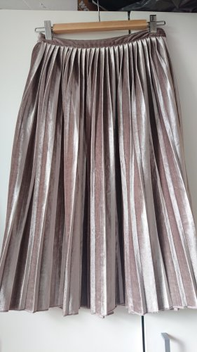 Abercrombie & Fitch Pleated Skirt silver-colored-lilac