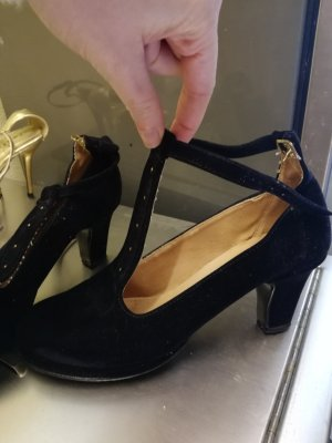 Slingback Pumps black-gold-colored