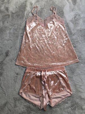 Samt Schlafanzug Set