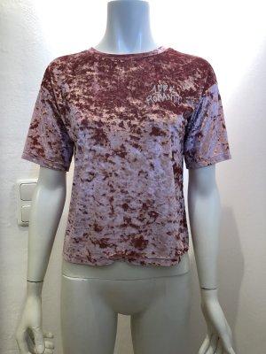 Samt Shirt T-shirt aus Pannesamt von Sisley