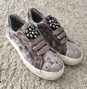 Catwalk Platform Trainers silver-colored-light grey mixture fibre