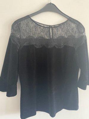 Samt-Spitzen Bluse