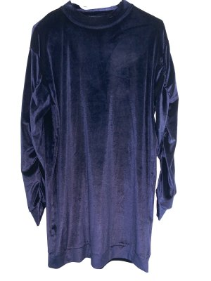 Samt Sweatshirt Kleid Oversized