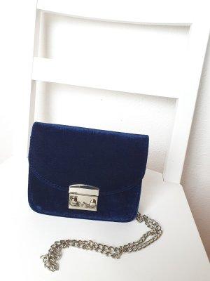 Samt Tasche Blau Neu