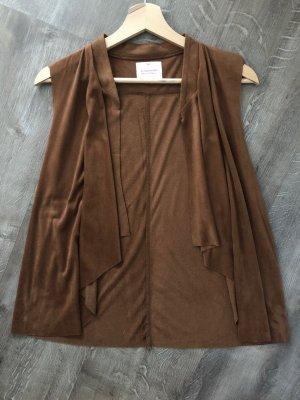 C&A Clockhouse Skórzana kamizelka brązowy