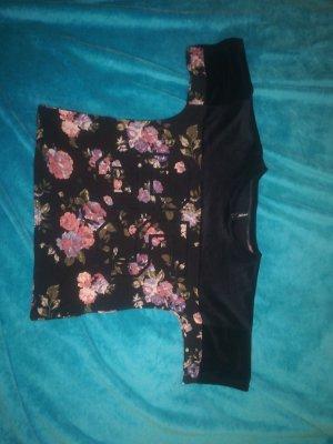 Samtartiges schwarzes Tshirt