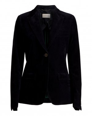 René Lezard Long Blazer dark blue cotton