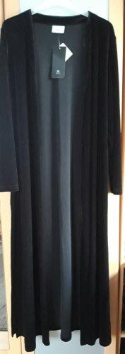 Samtcardigan Cardigan Maxilänge schwarz Gr.38