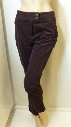 Madeleine Pantalon en velours côtelé brun foncé coton