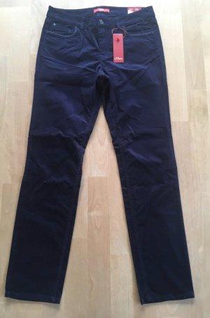 s.Oliver Five-Pocket Trousers dark blue