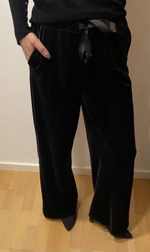 Samthose von Zara mit weitem Bein Gr.XS navyblue