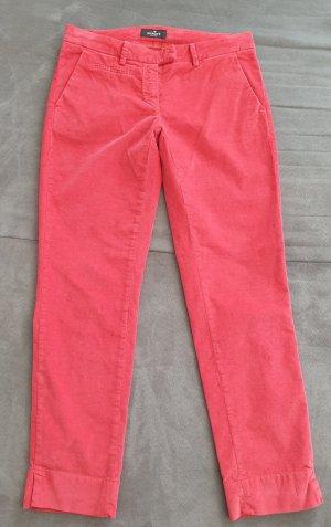 Samtige Knöchel Stoffhose, rot, Gr.38 (192-AE)
