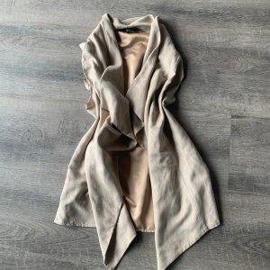 Atmosphere Gilet long tricoté blanc cassé-crème