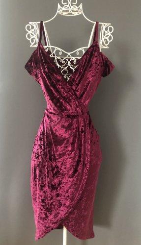 AX Paris Vestido cruzado púrpura