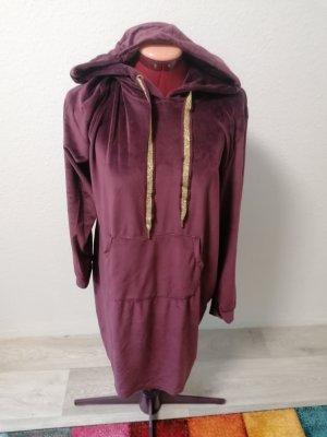 Esmara Vestido de tela de sudadera burdeos