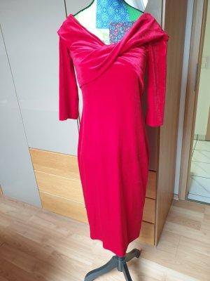 Zara Robe épaules nues rouge
