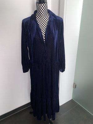 Samtkleid Maxikleid Zara Midikleid Gr. L dunkelblau