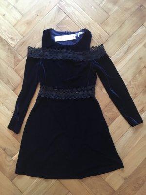 Topshop Robe courte bleu foncé-noir
