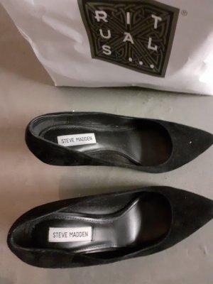 Steve Madden High Heel Boots black leather