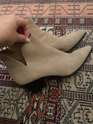 Zara Santiag beige cuir