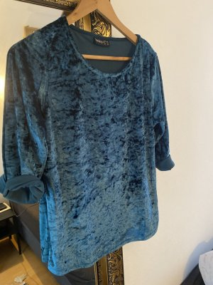 Janina Camisa larga azul neón