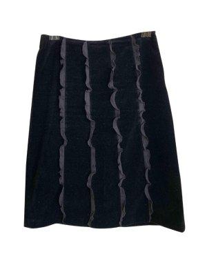 Turnover Crash Skirt black cotton
