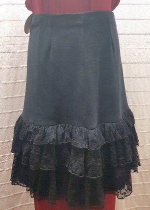 Spódnica z falbanami czarny