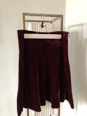Dorothee Schumacher Volanten rok bordeaux-roodbruin