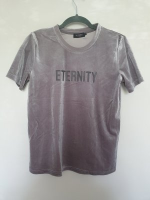 Soaked in luxury T-shirt argento-grigio