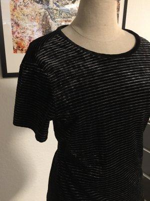 Samtshirt von Armani Exchange schwarz-silber