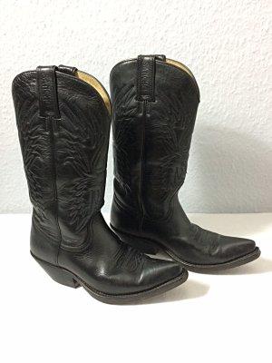 Sancho Botas estilo vaquero negro Cuero